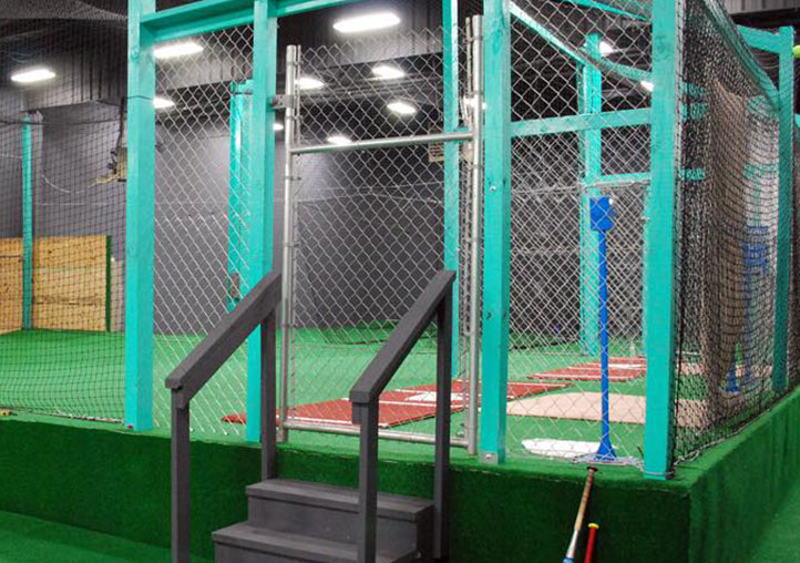 Automatic pitching machines and batting cage rentals
