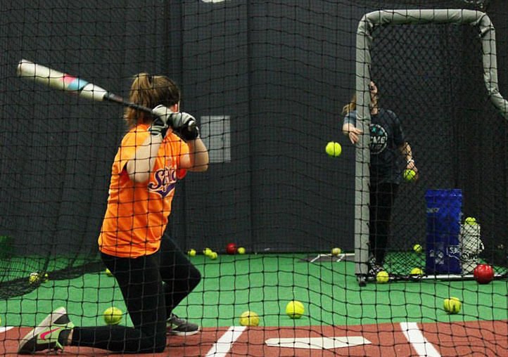 Softball lessons and batting cages